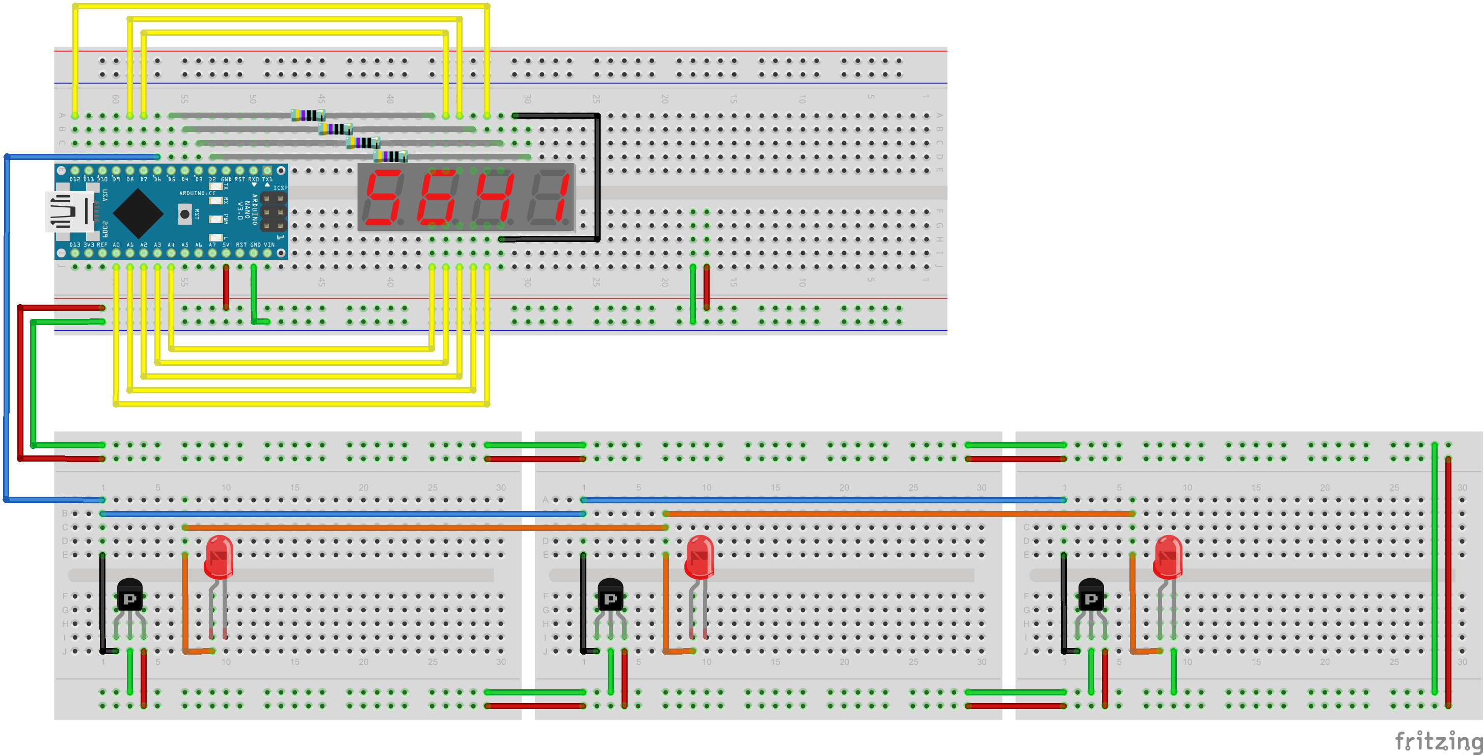 Laser Tag The Robot Fish Arduino 7 Segment Display Wiring On Circuit Diagram Electronic Schematic